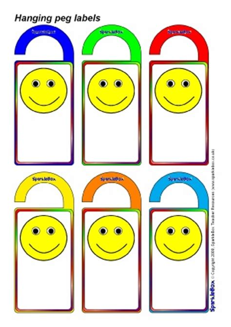 printable peg labels editable classroom peg labels sparklebox