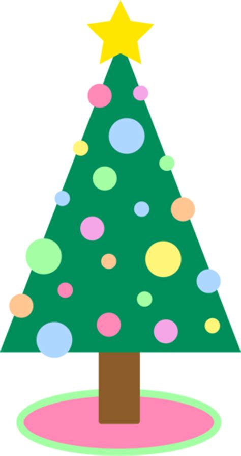 cute simple pastel colored christmas tree  clip art