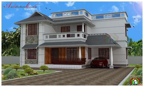 home design for 4 room architecture kerala four bed room house plan
