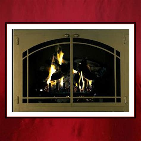 Custom Fireplace Glass Doors by Arch Window Pane Fireplace Door Northshore Fireplacenorthshore Fireplace