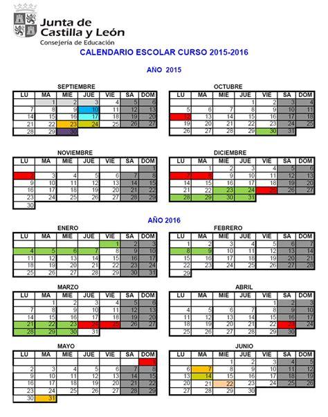 Calendario Escolar Castilla Y León 2015 16 Pdf Calendario Escolar Para El Curso 2015 2016 En Castilla Y Le 243 N