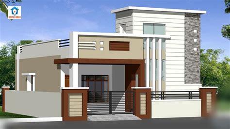 top  single floor house elevation designs front