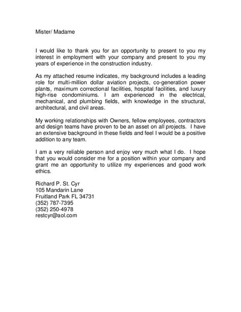 Combined Cover Letter And Cv Combine Cover Letter And Resume