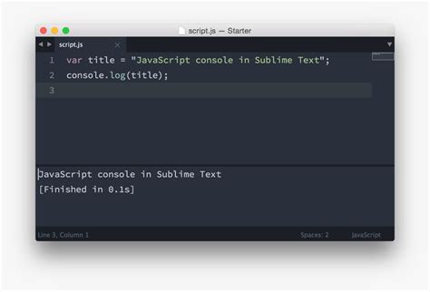 javascript console javascript console in sublime text pawelgrzybek