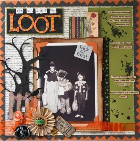 scrapbook layout ideas for halloween pin by donna langston on a scrapbooking pinterest