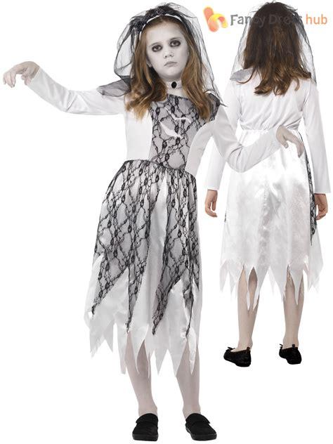 girls ghost zombie corpse bride fancy dress  halloween