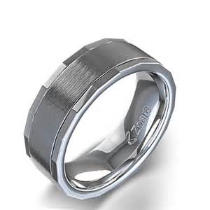 wedding ring mens multi faceted satin finish s wedding ring in 14k white gold