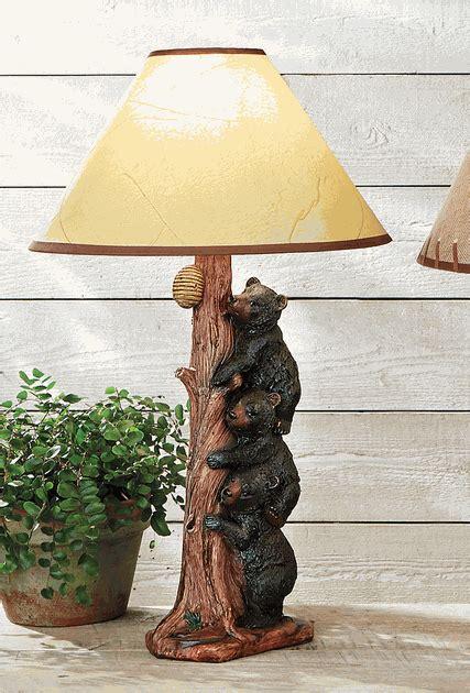 Black Bears Table Lamp
