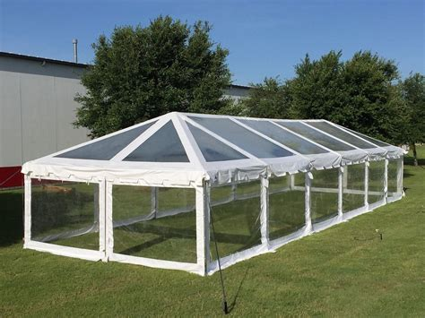 pvc pavillon 60 x20 clear pvc combi tent heavy duty wedding