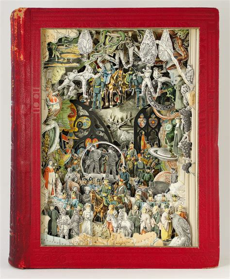 collage picture book new sculptural collages made from antiquarian books by