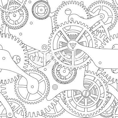 gear vector seamless texture stock vector art & more