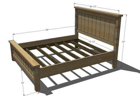 diy king bed frame white build a farmhouse bed calif king free and