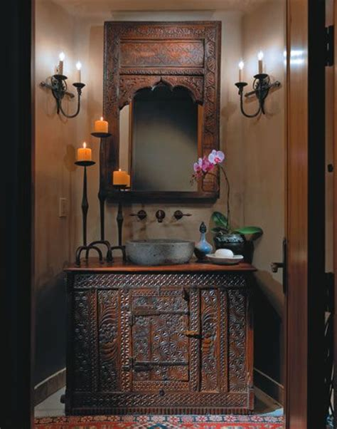 moroccan bathroom vanity great looking chest as vanity and peaked window as mirror
