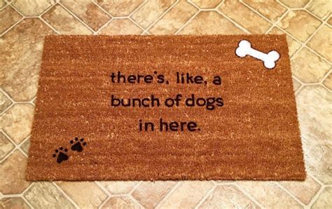 theres like a bunch of dogs in here mat there s like a bunch of dogs in here custom door mat