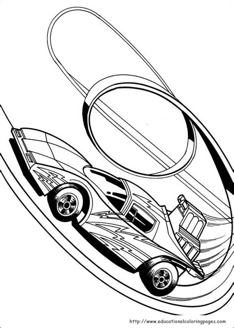 Hot Wheels Coloring Pages Free For Kids Wheels Coloring Page