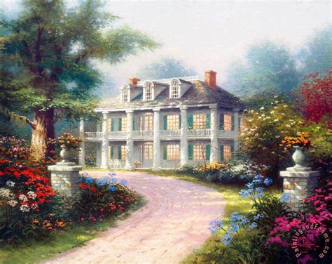 house painting art thomas kinkade homestead house painting homestead house