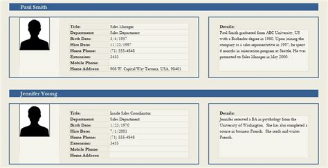 professional employee profile template excel  word excel tmp
