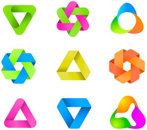 free logo design elements vector set of colored abstract logo design elements vector 05