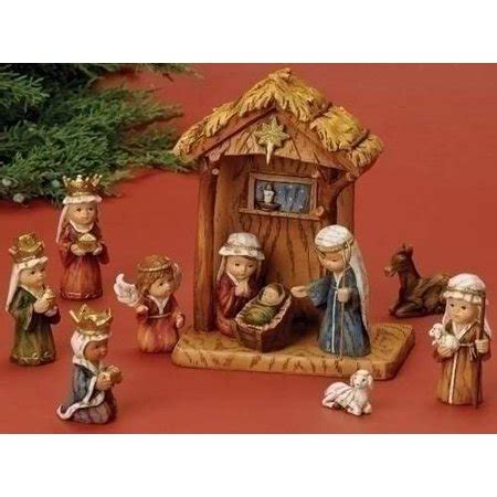 christmas stable walmart nativity set 11 stable nativity pageant 8 quot walmart