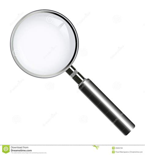 len glas magnifying glass lens stock vector image of