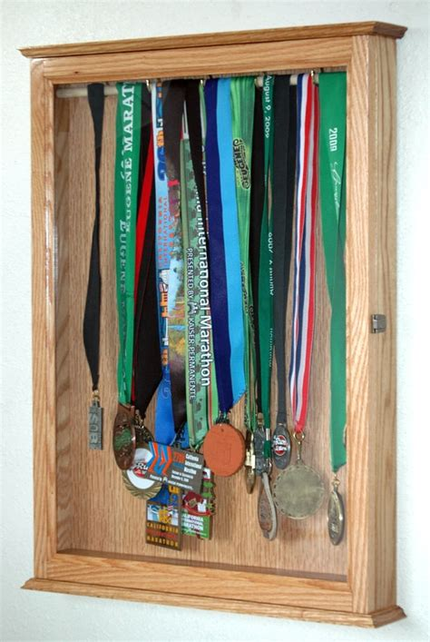 Display Cabinets For Medals by Sports Trophy Display Hanging Wall Cabinet Medal
