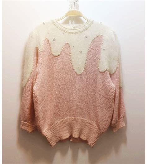 Kawai Sweater Pink sweater icing cupcake jumper pullover pastel pink pink pastel baby pink kawaii