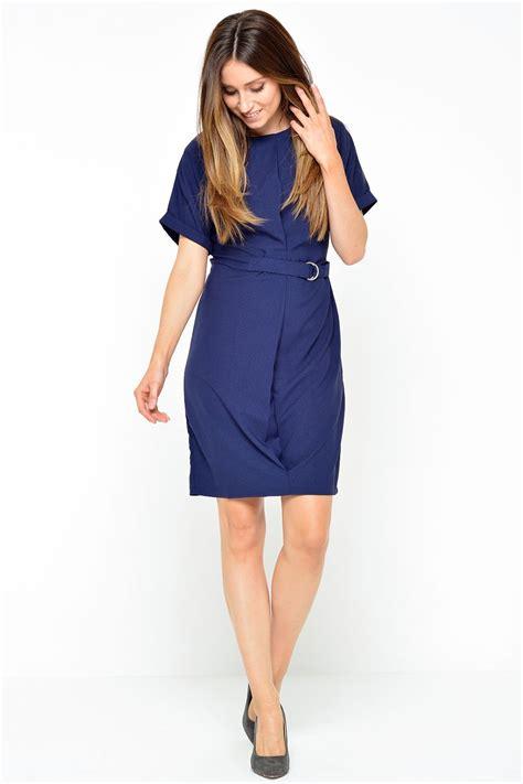 Ashanty Dress stella ashanti belt dress in navy iclothing