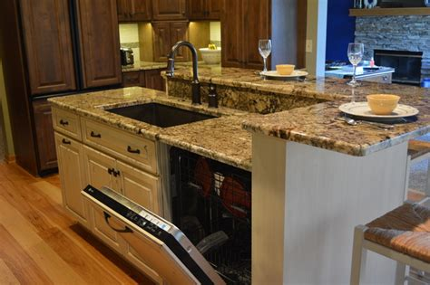 pictures of kitchen islands with sinks kitchen island design with dishwasher handy home design