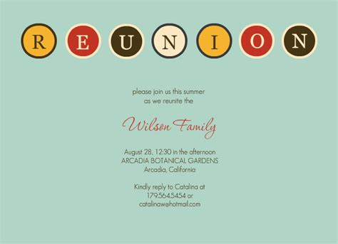 free family reunion invitations templates reunion invitations template best template collection