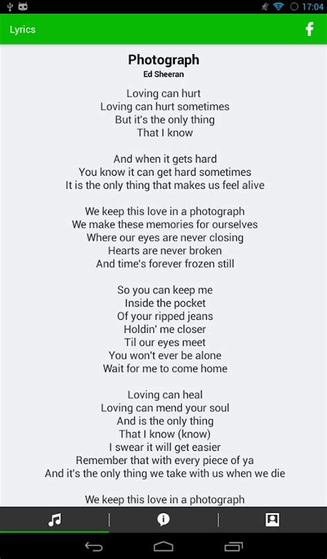printable lyrics to ed sheeran photograph ed sheeran song lyrics search results fun coloring pages