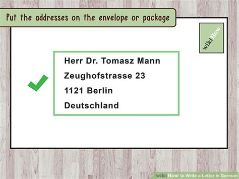 write formal letter german 3 ways to write a letter in german wikihow