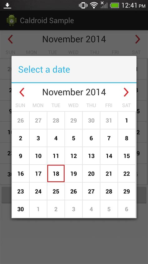 android studio layout events github mysugr caldroid android a better calendar for