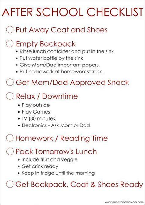 simple    school checklist  kids top