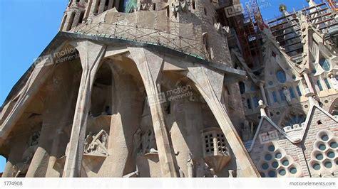 Sagrada Familia Cathedral In Barcelona, Spain Stock video