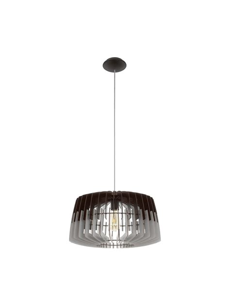 modern chandelier in gray and black wood 1 light glo 96956
