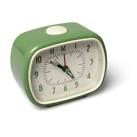 Alarm Clock retro green alarm clock dotcomgiftshop