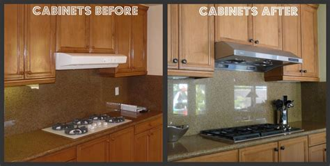 updating oak kitchen cabinets before and after kitchen update with island makeover