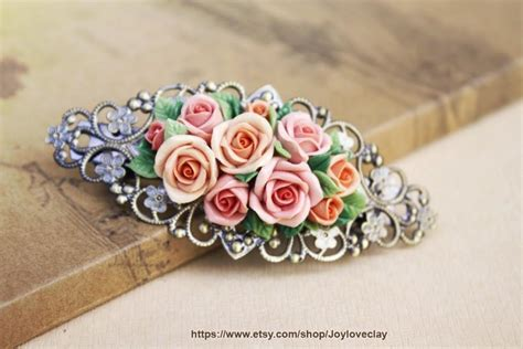 How To Make Handmade Accessories - barrette hair clip hair accessories handmade flowers