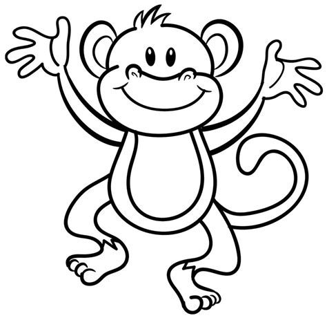 Coloring Pages Of Monkeys monkey coloring page bestofcoloring