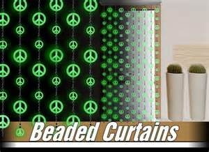 Peace Sign Beaded Curtains Glow In The Dark Peace Sign Beaded Curtains