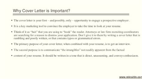 why are cover letters important importance of cover letter
