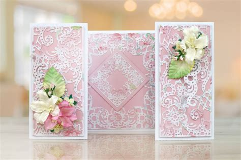 lace for card ornamental easel card tld0265 tattered lace