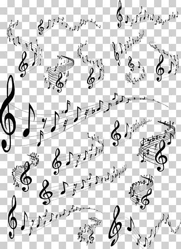 Personal de notas musicales, material de notas