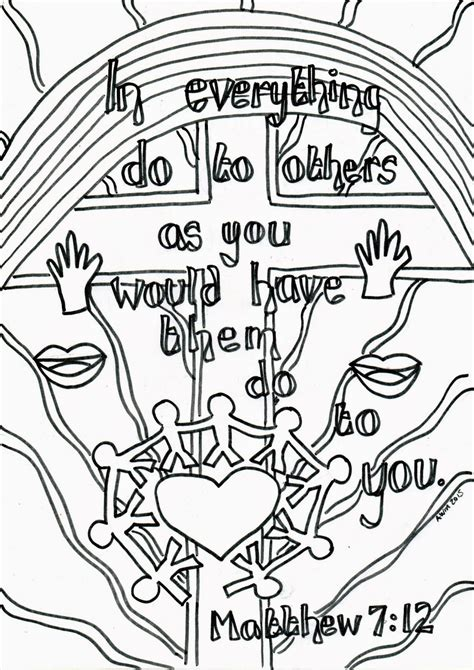 Matthew 7 Coloring Pages by Creative Children S Ministry Reflective Colouring