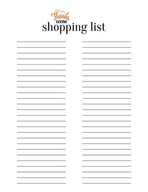 printable grocery list large print thanksgiving planner menu shopping list and decorative