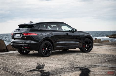 jaguar f pace blacked out 2016 jaguar f pace s 35t review video performancedrive