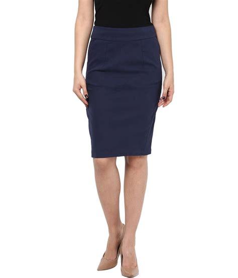 buy kaaryah s navy blue pencil fit formal skirts