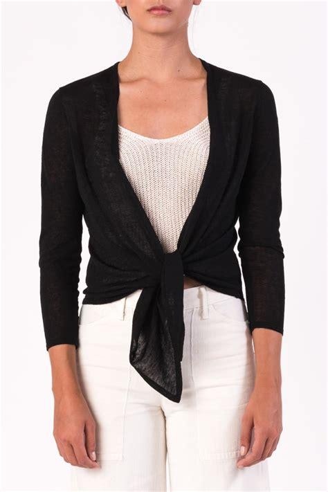 cropped cardigan tie front sweater vest