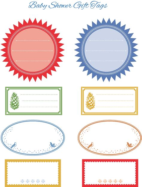 templates for baby shower favor tags free wedding gift tag templates