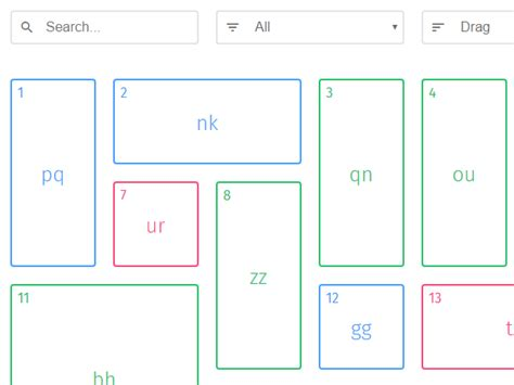 javascript layout manager responsive draggable filterable grid layout muuri
